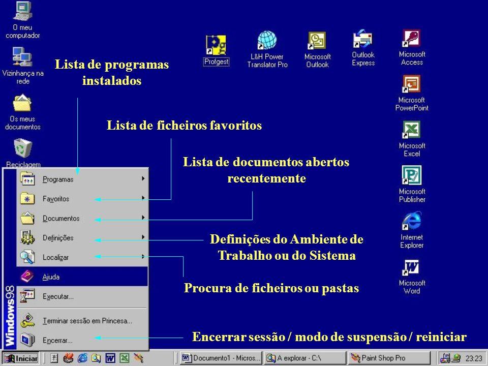 Lista de programas instalados