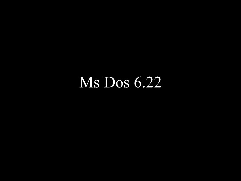 Ms Dos 6.22