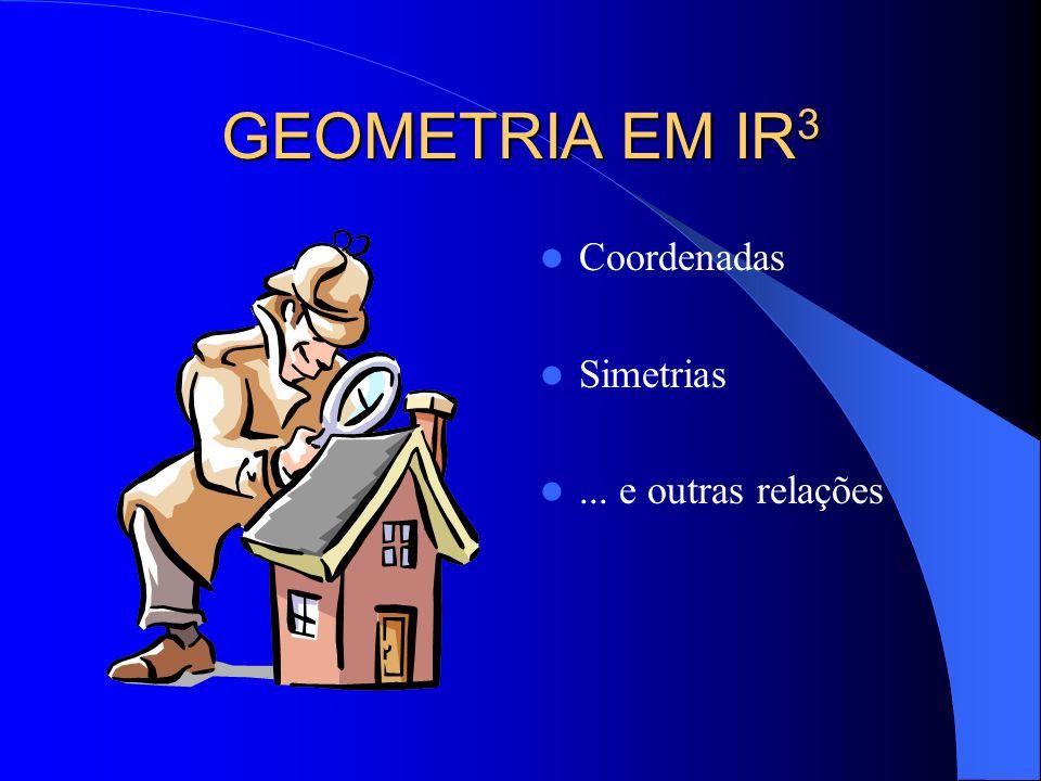 GEOMETRIA EM IR3 Coordenadas Simetrias ... e outras relações