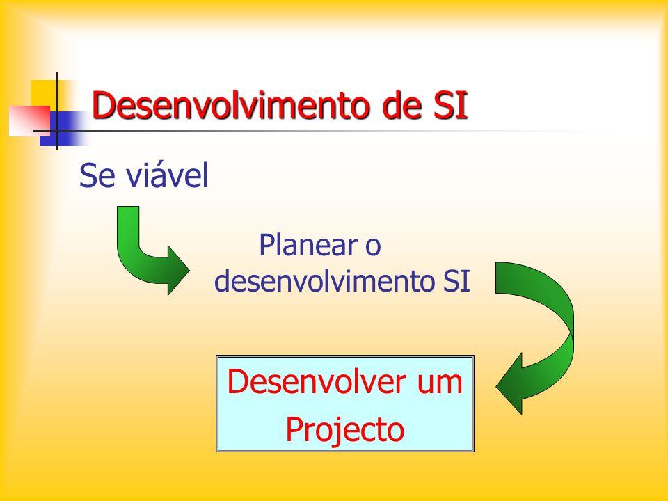 Planear o desenvolvimento SI