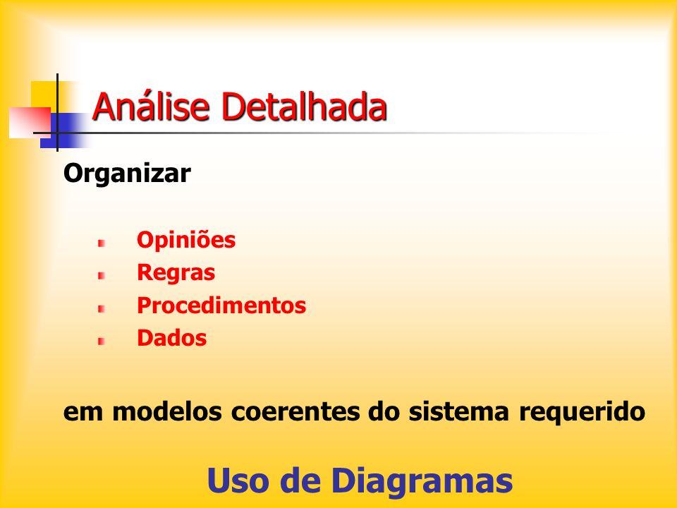 Análise Detalhada Uso de Diagramas Organizar