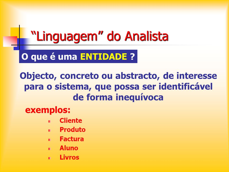 Linguagem do Analista