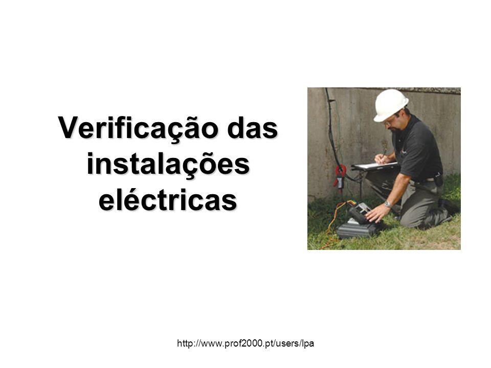 Verificação das instalações eléctricas
