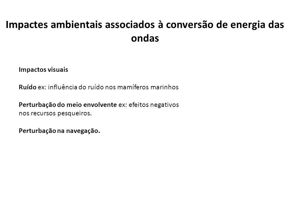 Impactes ambientais associados à conversão de energia das