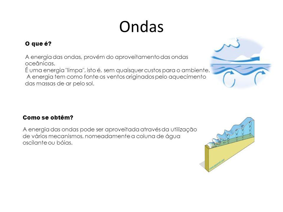 Ondas O que é A energia das ondas, provém do aproveitamento das ondas oceânicas.
