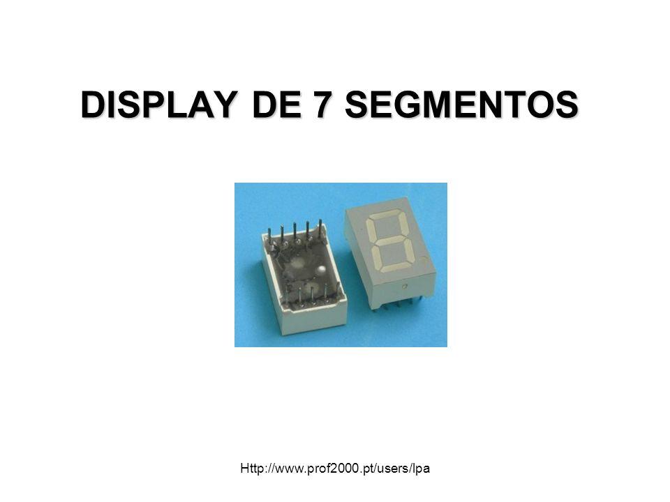 DISPLAY DE 7 SEGMENTOS Http://www.prof2000.pt/users/lpa
