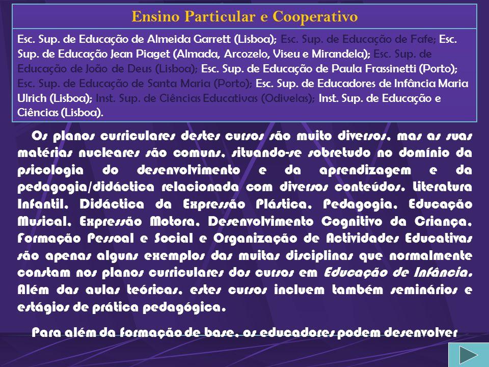 Ensino Particular e Cooperativo