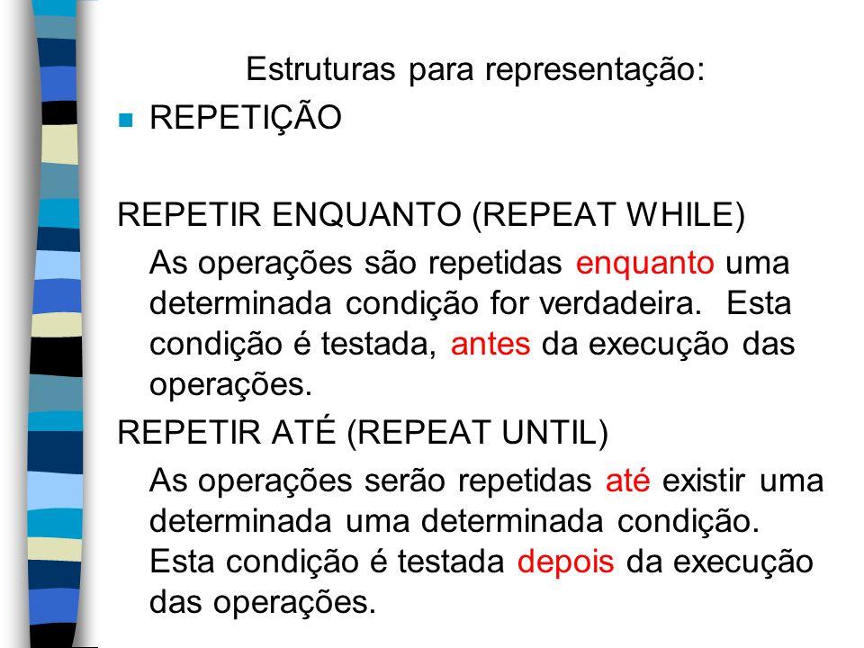 Estruturas para representação: