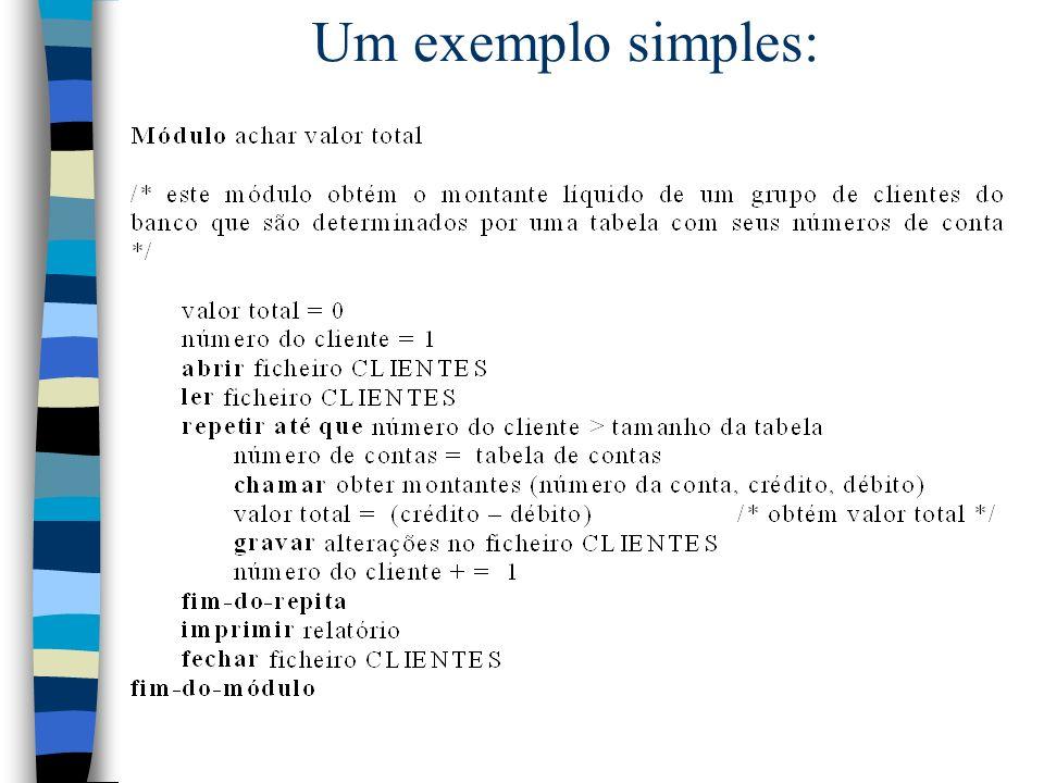 Um exemplo simples: