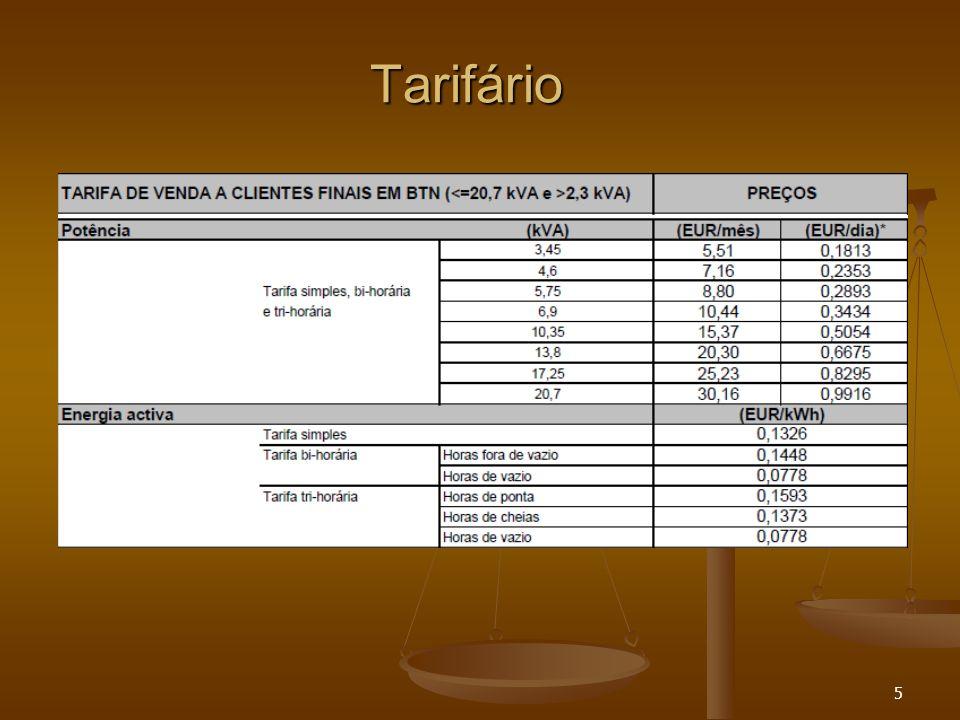 Tarifário