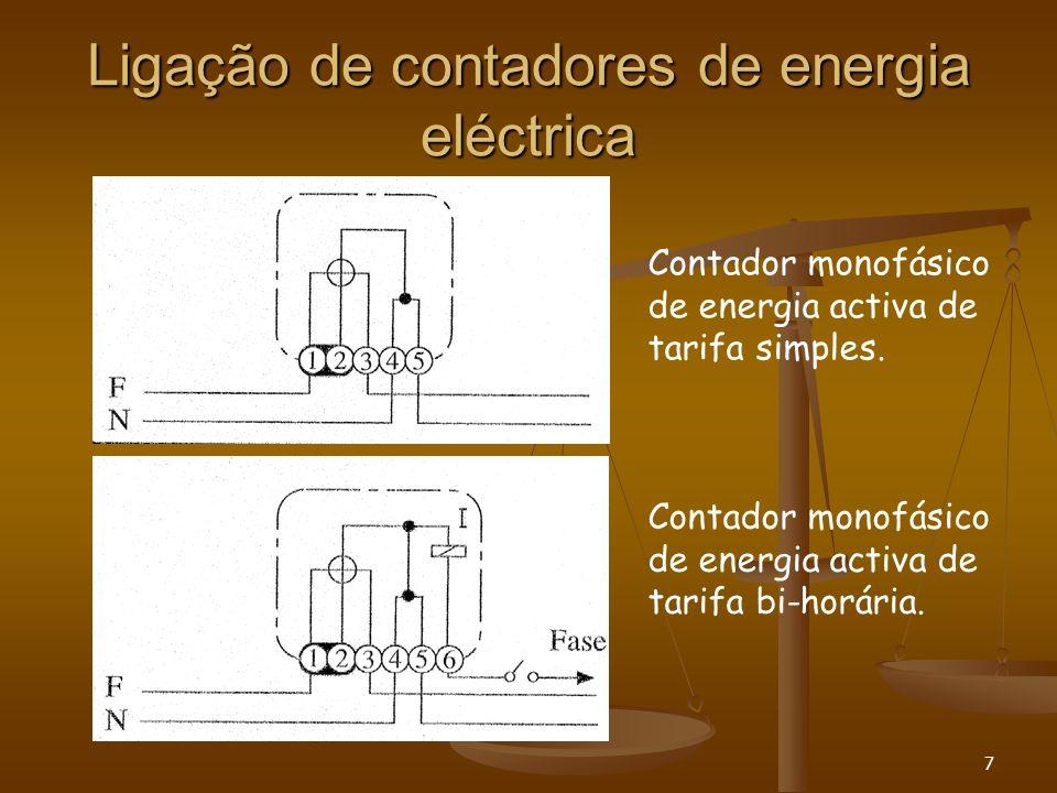 Ligação de contadores de energia eléctrica