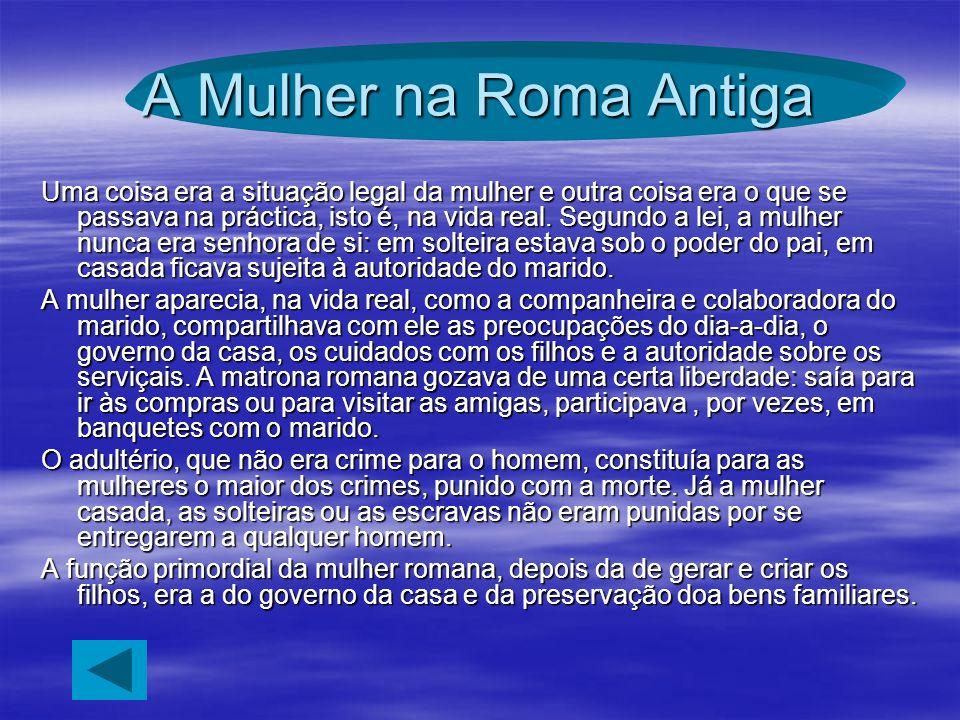 A Mulher na Roma Antiga