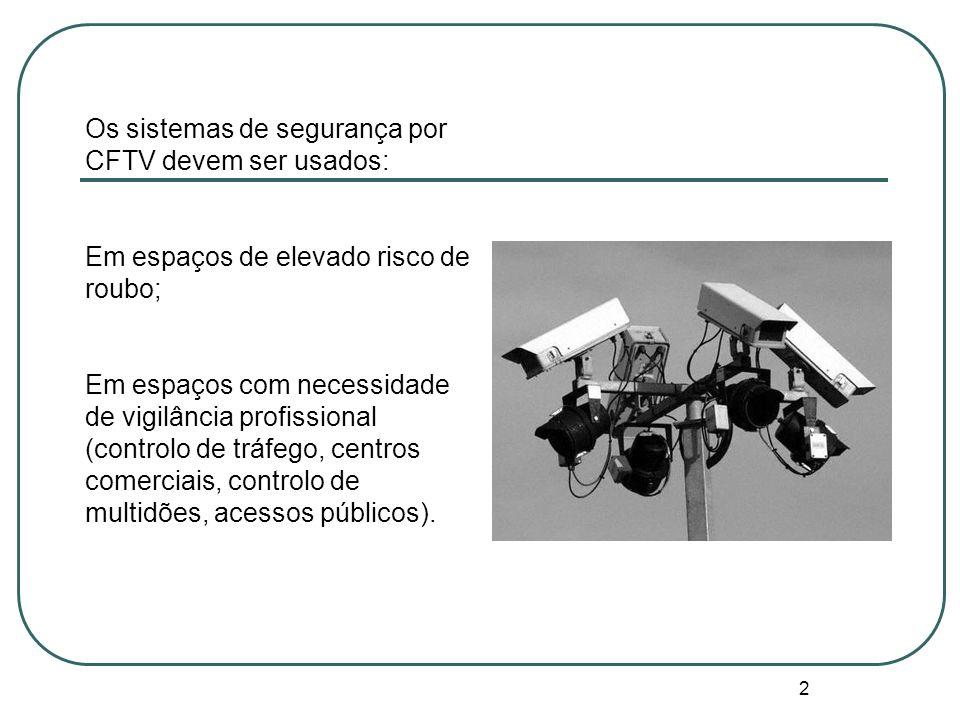 Os sistemas de segurança por CFTV devem ser usados: