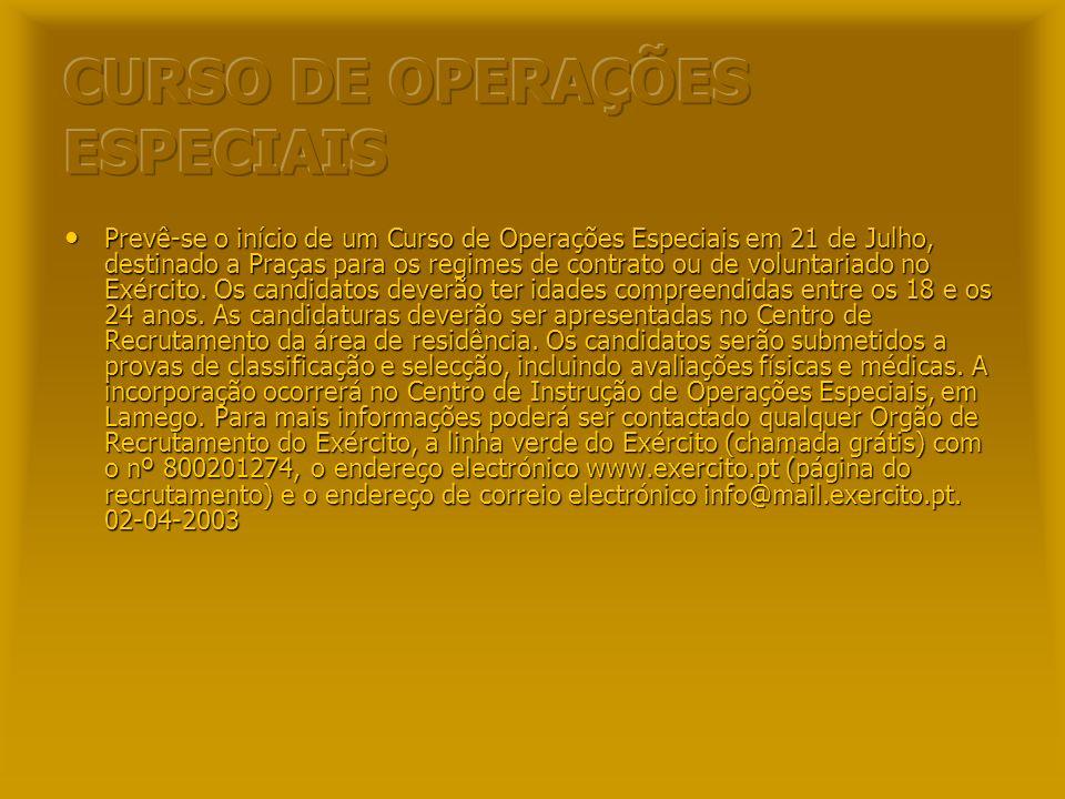 CURSO DE OPERAÇÕES ESPECIAIS
