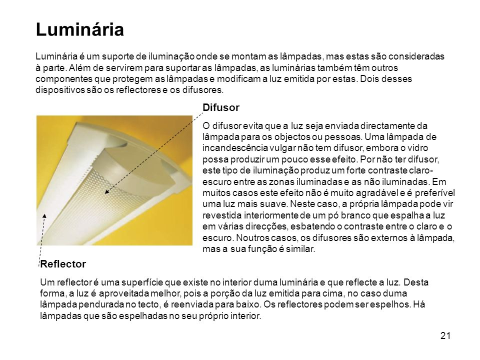 Luminária Difusor Reflector