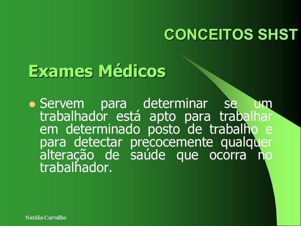 Exames Médicos CONCEITOS SHST