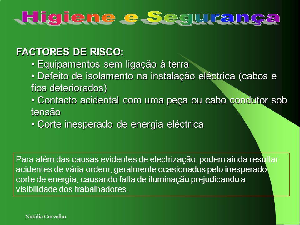 Higiene e Segurança FACTORES DE RISCO: