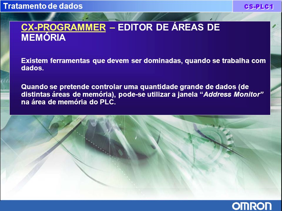 CX-PROGRAMMER – EDITOR DE ÁREAS DE MEMÓRIA