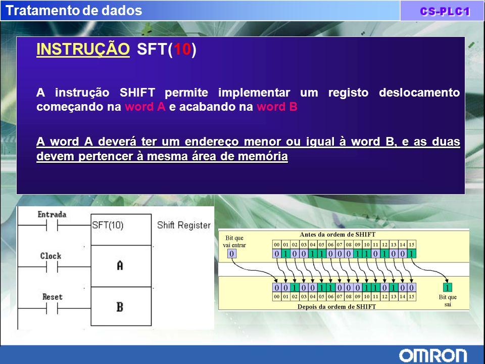 INSTRUÇÃO SFT(10) Tratamento de dados