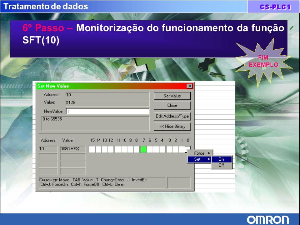6º Passo – Monitorização do funcionamento da função SFT(10)