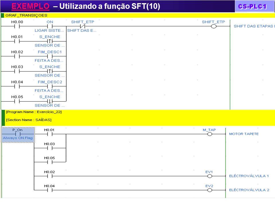EXEMPLO – Utilizando a função SFT(10)