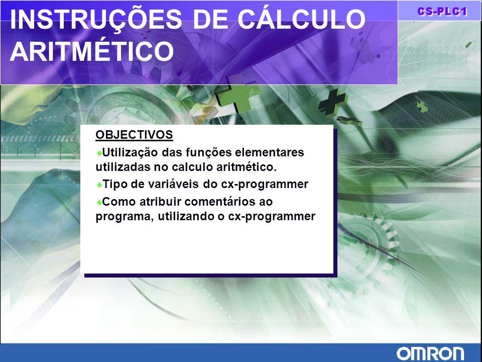 INSTRUÇÕES DE CÁLCULO ARITMÉTICO