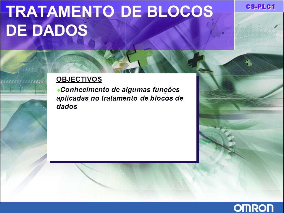 TRATAMENTO DE BLOCOS DE DADOS