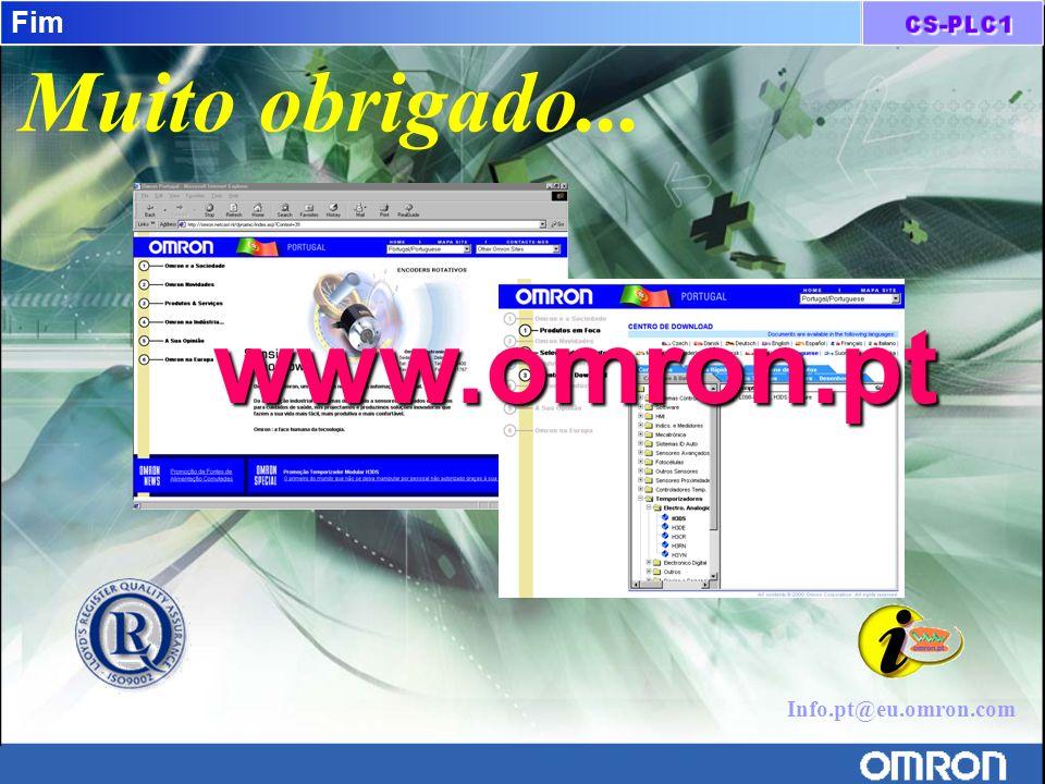 Fim Muito obrigado... www.omron.pt Info.pt@eu.omron.com