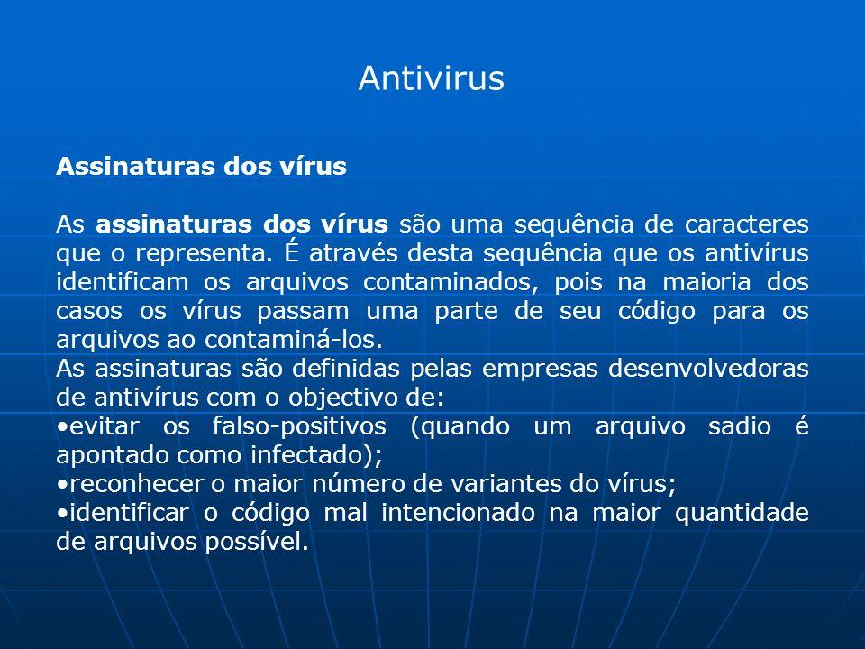 Antivirus Assinaturas dos vírus