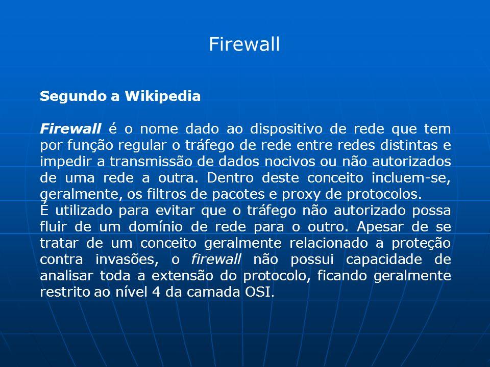 Firewall Segundo a Wikipedia