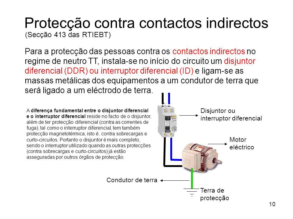 Protecção contra contactos indirectos
