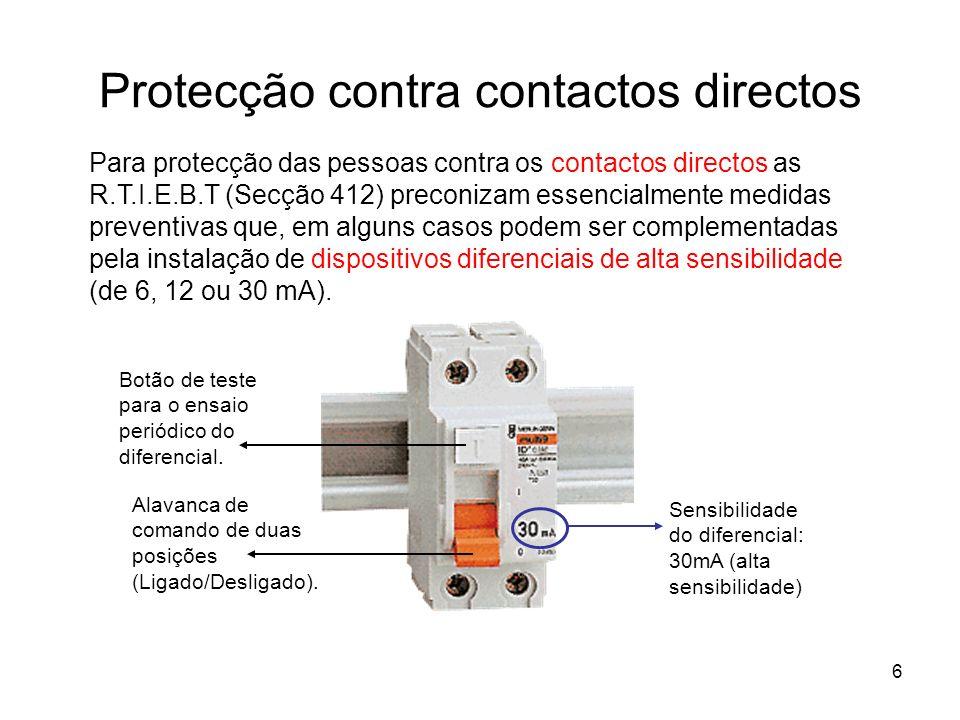 Protecção contra contactos directos