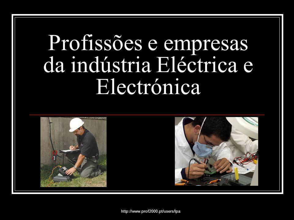 Profissões e empresas da indústria Eléctrica e Electrónica