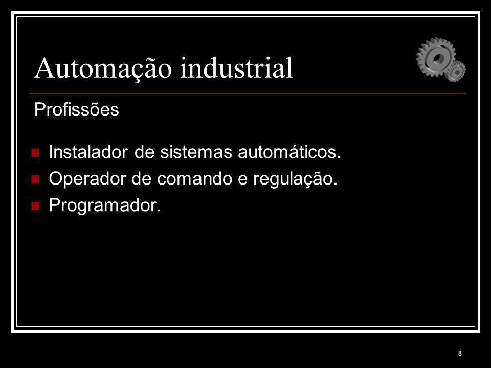 Automação industrial Profissões Instalador de sistemas automáticos.