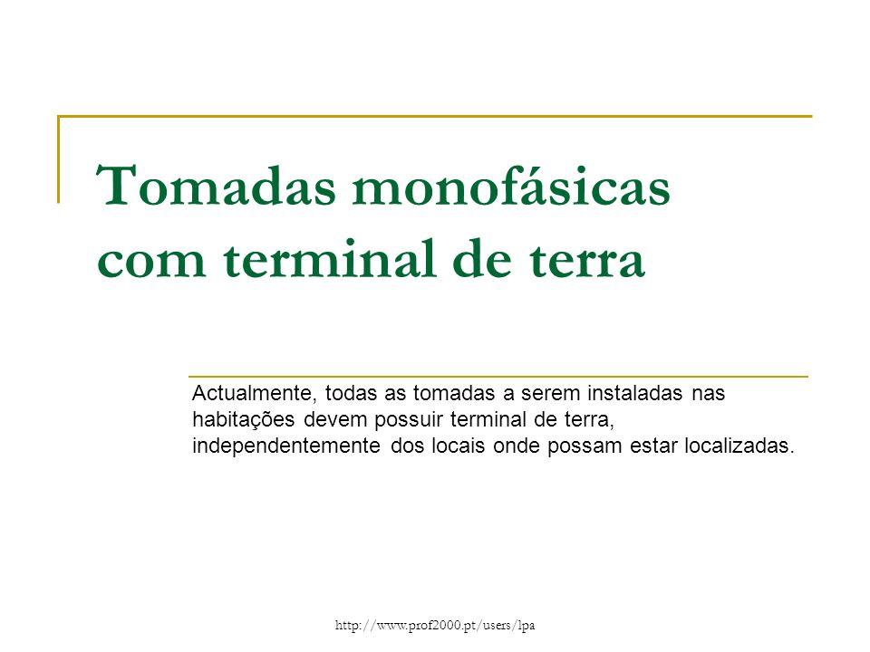 Tomadas monofásicas com terminal de terra