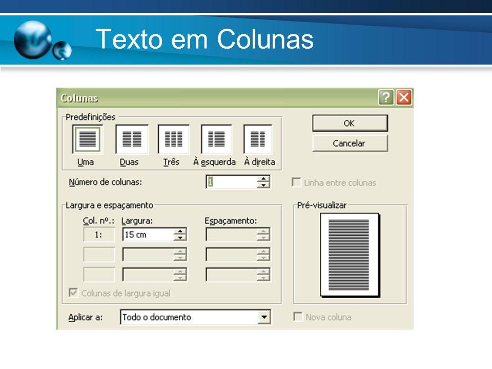 Texto em Colunas