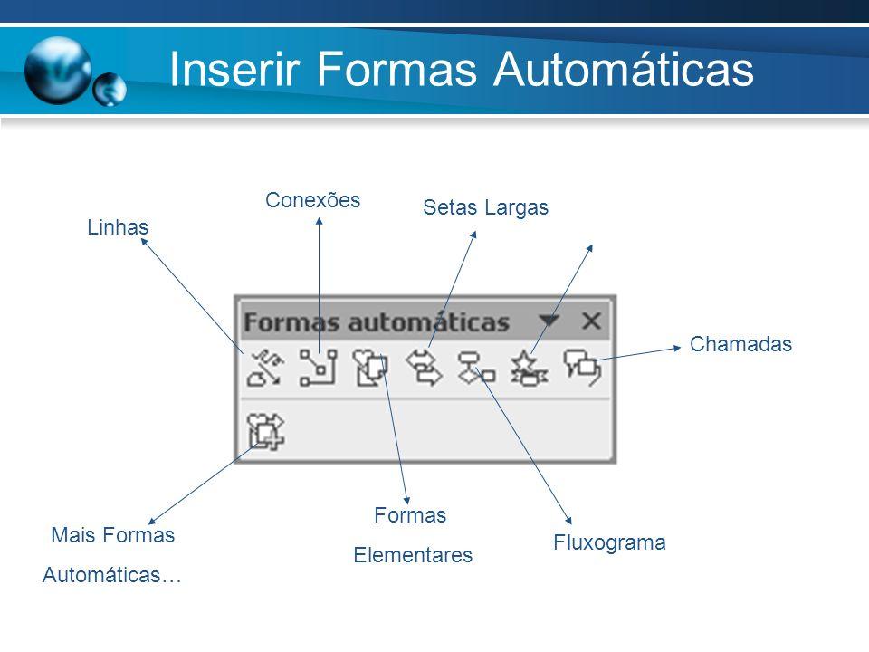 Inserir Formas Automáticas