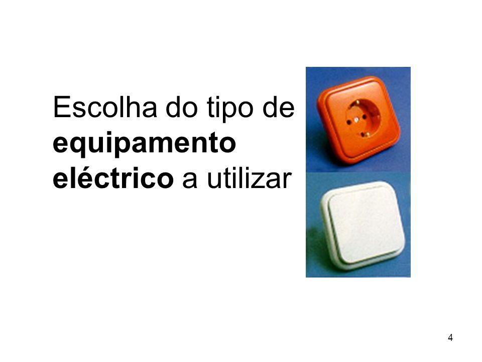 Escolha do tipo de equipamento eléctrico a utilizar