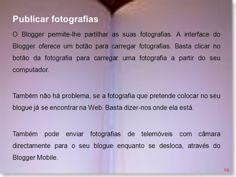 Publicar fotografias