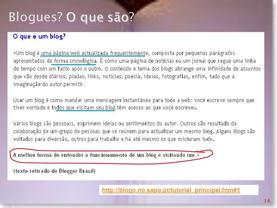 Blogues O que são http://blogo.no.sapo.pt/tutorial_principal.htm#1