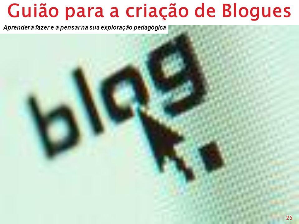 Guião para a criação de Blogues