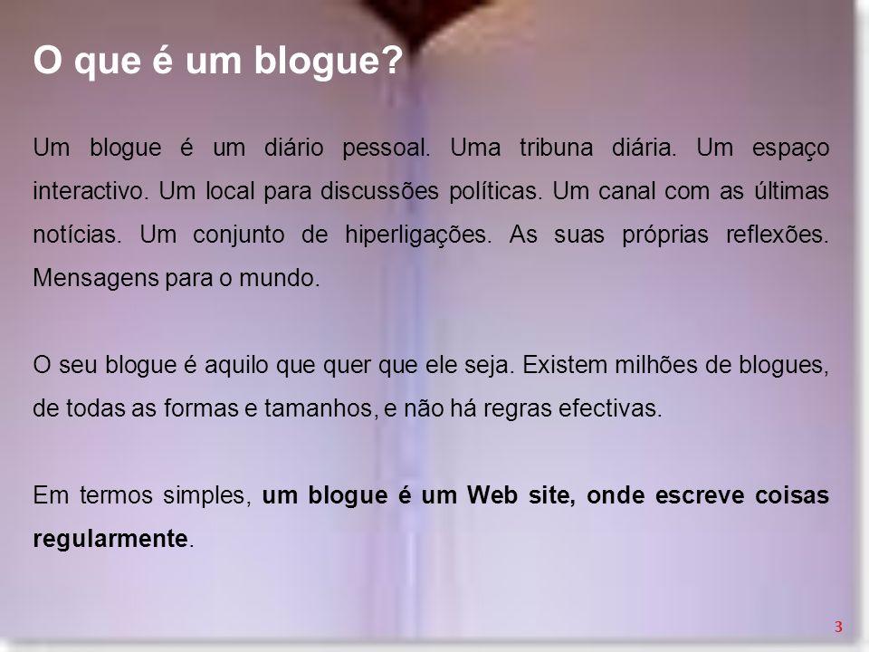 O que é um blogue