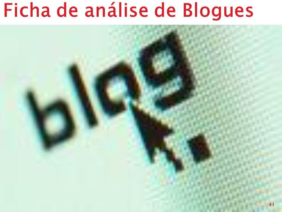 Ficha de análise de Blogues
