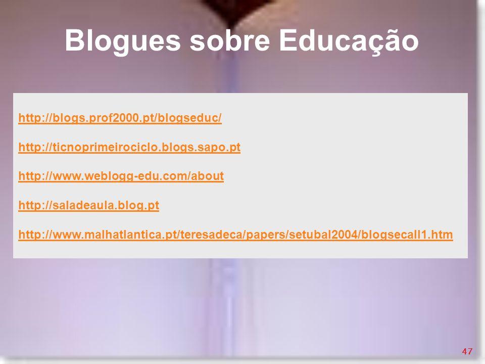 Blogues sobre Educação