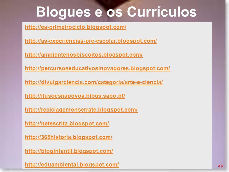 Blogues e os Currículos