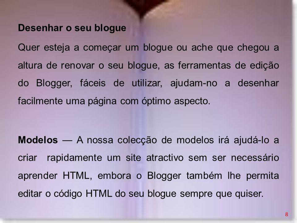 Desenhar o seu blogue