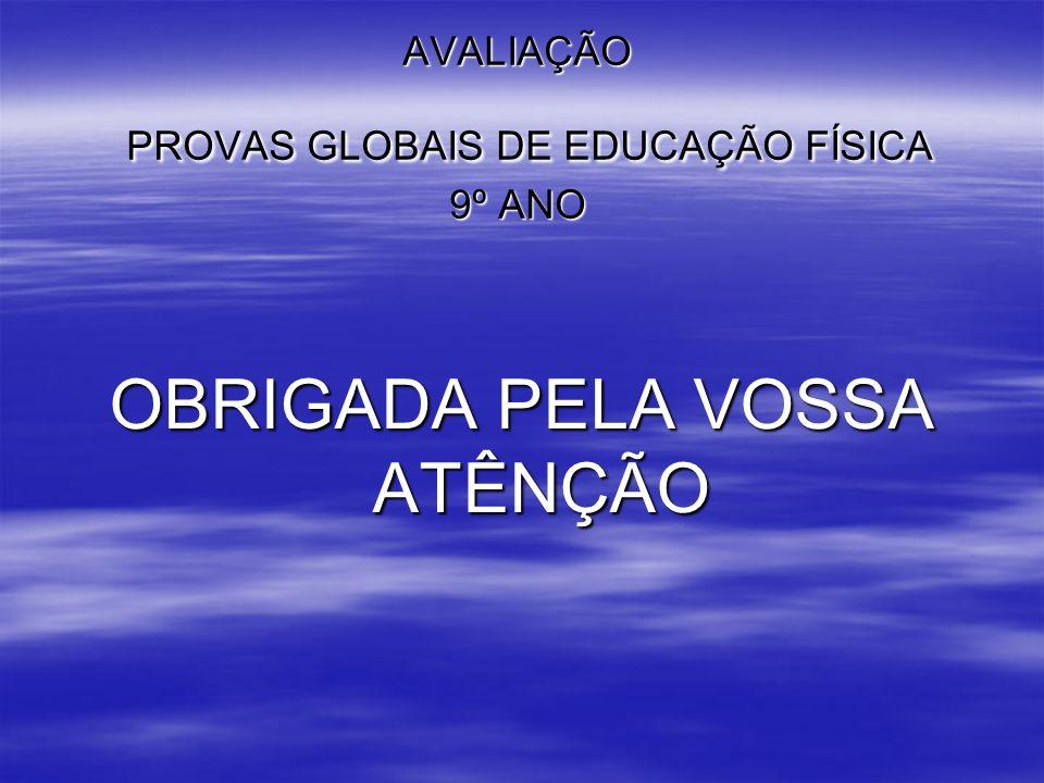AVALIAÇÃO PROVAS GLOBAIS DE EDUCAÇÃO FÍSICA 9º ANO