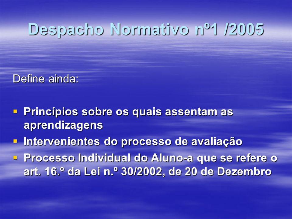 Despacho Normativo nº1 /2005
