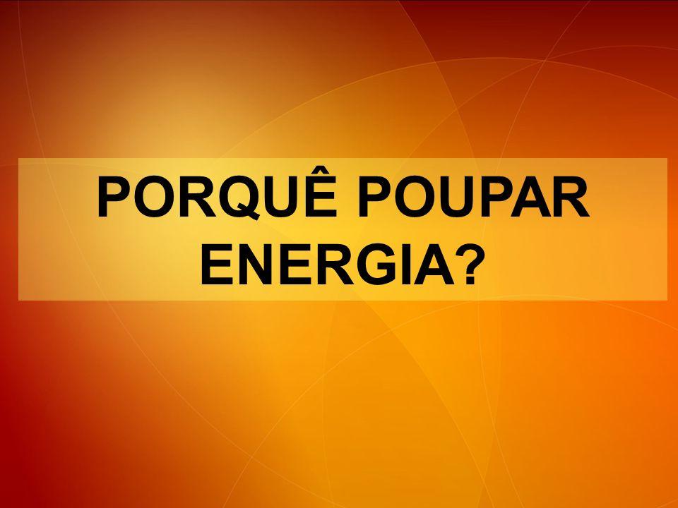 PORQUÊ POUPAR ENERGIA Podemos obter energia essencialmente de duas formas distintas: