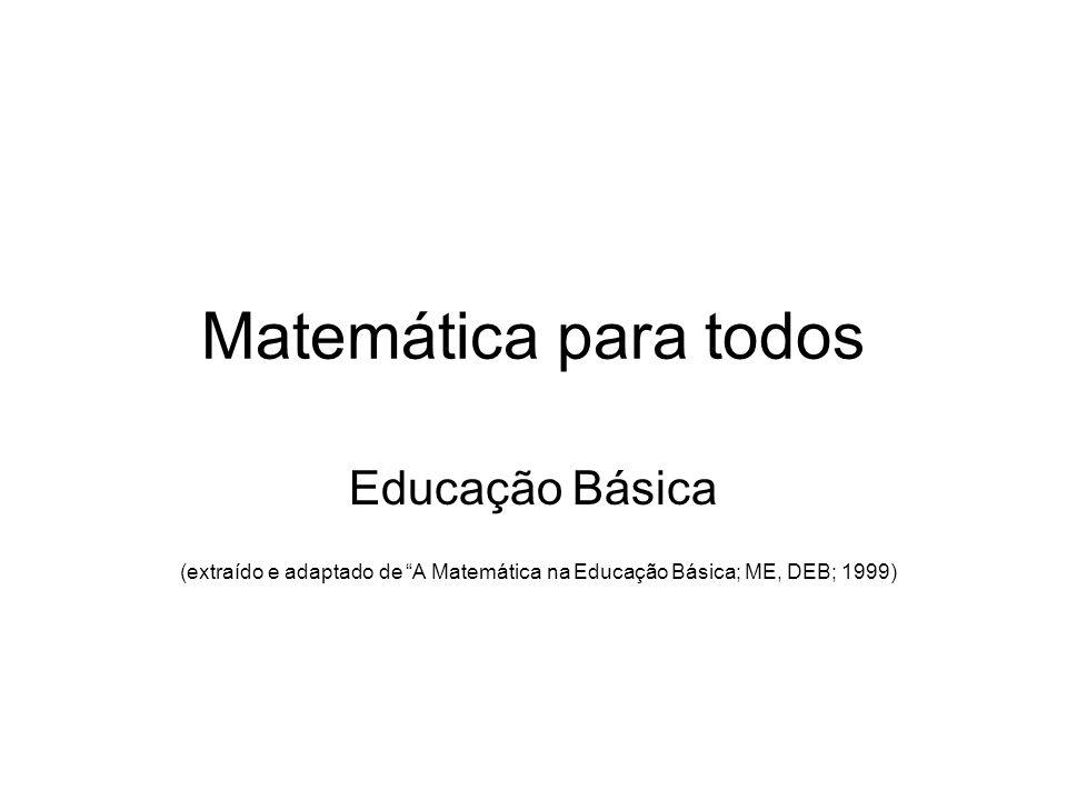 Matemática para todos Educação Básica